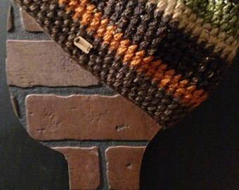 Multi colored stripes beanie