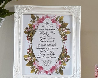 Now At Last C.S Lewis Quote from The Battle Framed