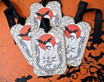 Halloween Tags Grave's Delight - Set of 6