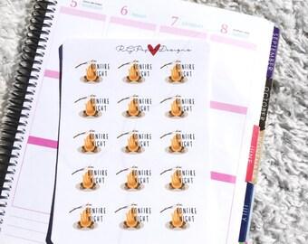 Bonfire Night (15 Stickers)// Erin Condren Life Planner, Happy Planner,Filofax and more!