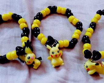 Pichu and pikachu kandi single bracelets