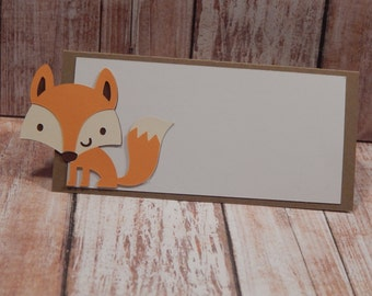 Fox Woodland Themed Place Cards - Food Tents - Buffet Tags