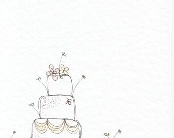 Bunting Wedding 6x4 greetings card