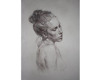 Portrait of a Young Woman, drawing