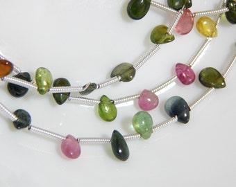 70%OFF Multi Tourmaline Gemstone beads / Tourmaline Heart Beads / Size 3.5x5 to 4.5x8 mm Approx  - 0046