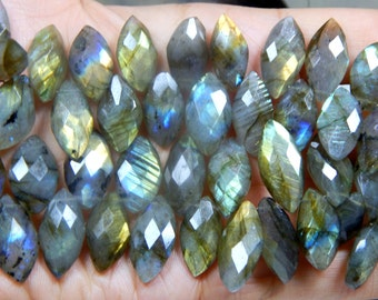 70%OFF Labradorite Gemstone Faceted Marquise Beads Size 10x13 to 21x24 mm Approx  - 0458