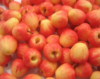 Lot 20 Loose Gala Apple Dollhouse Miniatures Food Fruit Supply Deco Charms - 11686