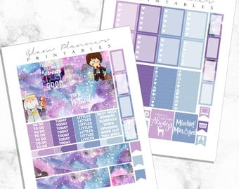 Yer a Wizard: Printable Planner Stickers for Erin Condren (2 Pack PDF)