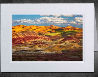 Photography Notecard, Painted Hills, Photo Greeting Card, Custom Notecard, Photo Notecard, Oregon, Colorful Rolling Hills, Landscape Photo