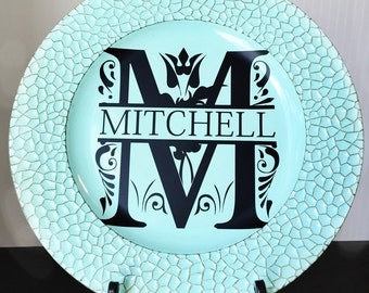Personalized Custom Plate Charger  Great Wedding Gift! A Gift for Any Occassion!