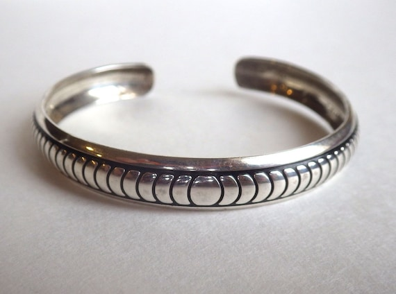 BRACELET CUFF Bangle ~ B WEBB Sterling ~ Navajo Sterling ~ Silver Cuff Bracelet ~ 1970s ~ Excellent Vintage Condition ~ Great Gift