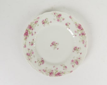"Haviland Limoges France pink asters salad plate 7.5"" Schleiger 262B antique"