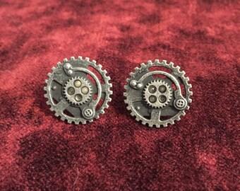 Steampunk Gear Studs