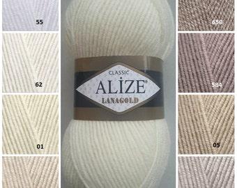 ALİZE LANAGOLD, classic yarn, wool yarn, knitting yarn, winter yarn, sweater yarn, hand knitting yarn, crochet yarn, hat yarn, scarf yarn
