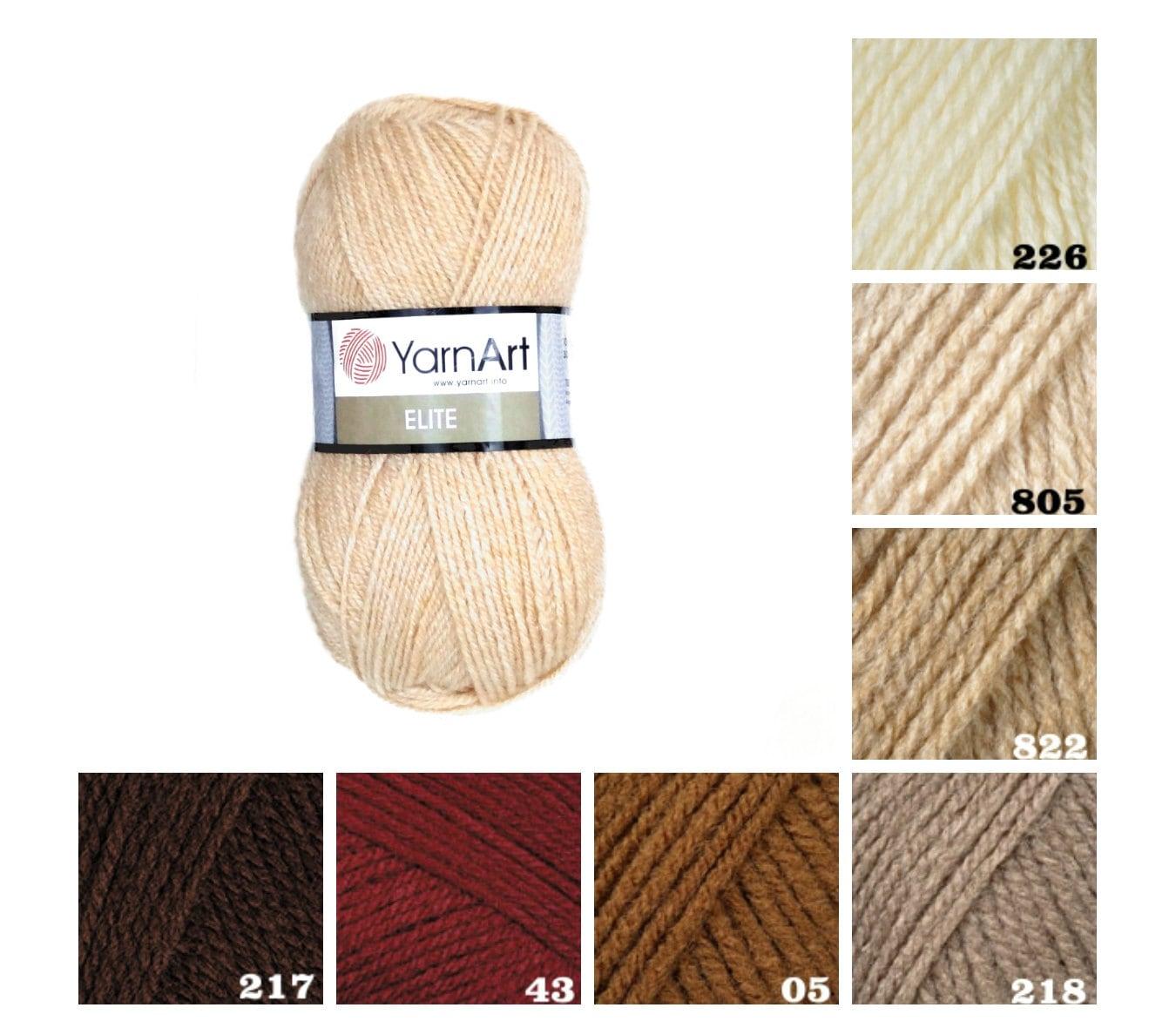 Knitting Pattern Suppliers : YarnArt EL?TE knitting supplies brown beige pattern yarn