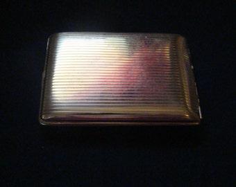 Vintage gold tone cigarette case wallet