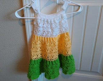 Handmade crochet tiered dress