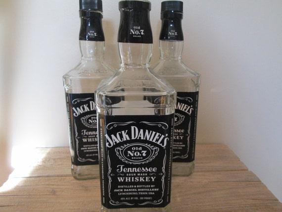 Empty Jack Daniels Whiskey Bottles 1.75 Liters Large Glass