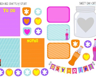 Sweet Day-Off stickers - for planners, notebooks, journals, etc.