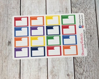 Lined Half Boxes in Bold- Made to fit Vertical or Horizontal Layout