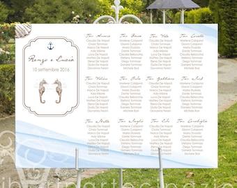TABLEAU de MARIAGE sea style