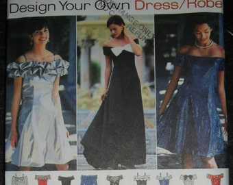 Simplicity Design Your Own Dress/Robe Pattern #9495 Plus Size