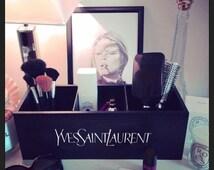 YSL Yves Saint Laurent ~ Black Storage Box / Make-up vanity