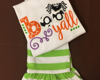 "Girl's ""Boo Yall"" shirt & pant set"