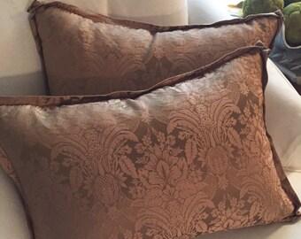 Silk Damask Pillows