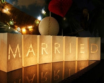 Just Married Candle Bags