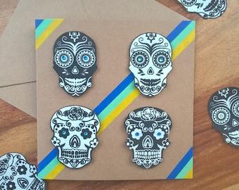 Azure Sugar Skull card