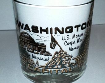 Washington DC Souvenir Glass