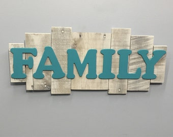 Rustic Wood Sign -Family