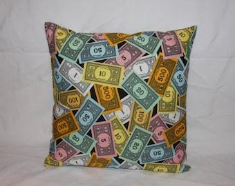 16x16 Money print decor pillow