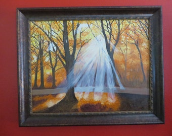 """24x 30 inch oil on canvas, """"Tranquility"""" , framed"""