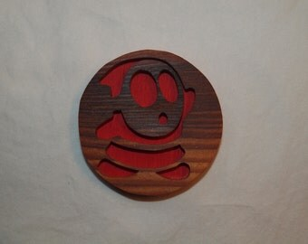 Wooden Shy Guy from Mario Magnet