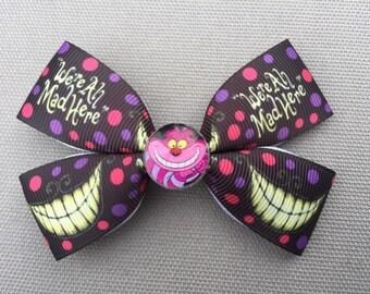 Handmade Cheshire Cat Inspired Hair Bow