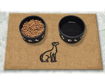 D60755 - 24 x 36 DuraCoir Pet Mat - Single Dog Non-Personalized