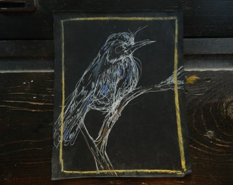 White Bird on Black papir