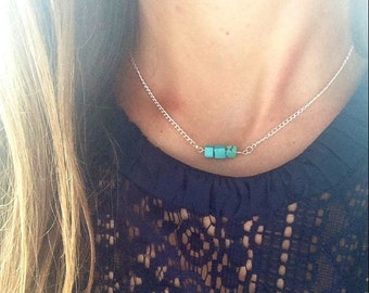 Turquoise Layering Necklace, Layering Necklace