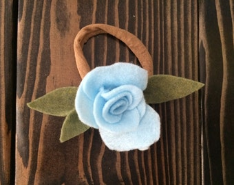 Sea Blue Rosette Headband