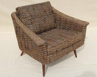 Thayer Coggin upholstered vintage arm chair Milo Baughman