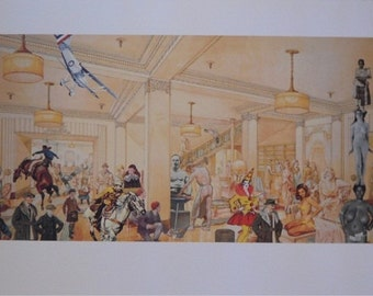 Sir Peter Blake Demonstrations in a Department Store screenprint signed numbered