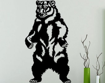 Stickers ours grizzly etsy - Stickers resistants a l eau ...