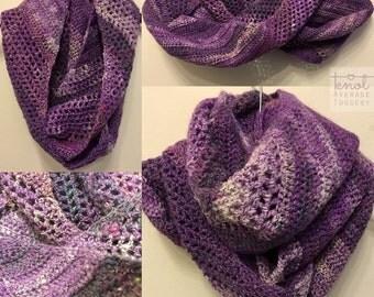 Comfy Mochi - purple crochet infinity scarf/cowl Uk Shop