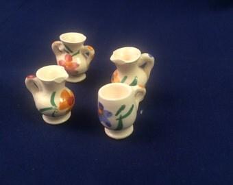 Miniature Ceramic Vases/Pitchers (set of 4)