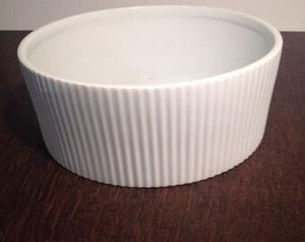 Large White Souffle Casserole Dish
