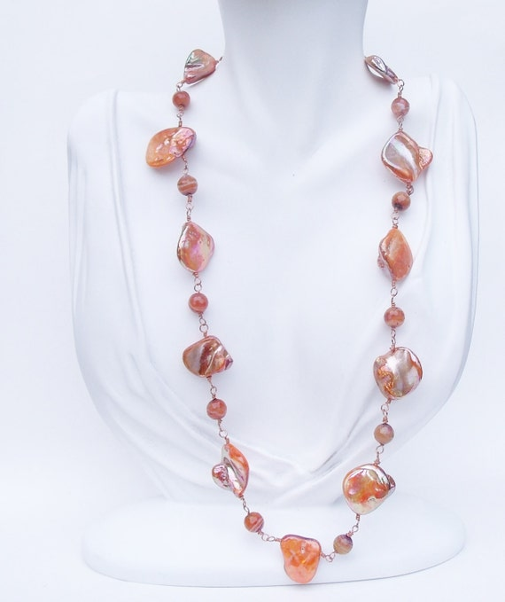 Copper Shell Necklace