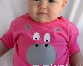 Hippo Shirt Toddler Girl - Girl Animal Shirt Hippopotamus - Baby Girl Bodysuit Hippo - Zoo Animal t shirt Infant - Baby Costume /Youth/Adult