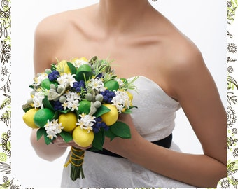 Wedding Polymer Clay Bouquet with fruits |Blüte|